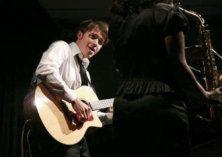 Kris Allen with guitar