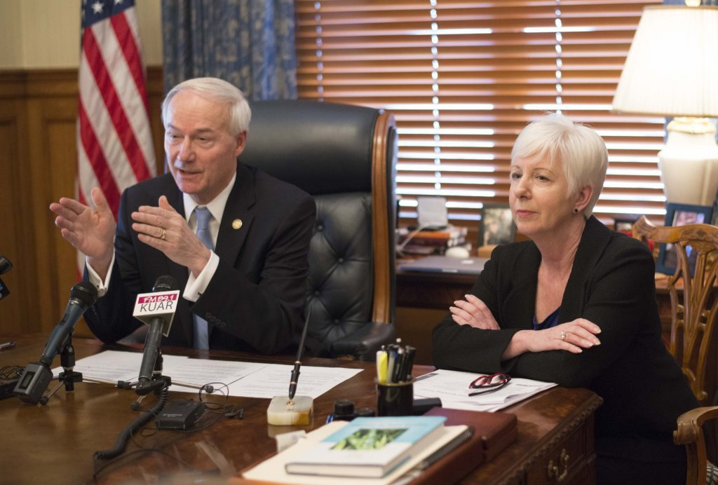Asa Hutchinson and Cindy Gillespie