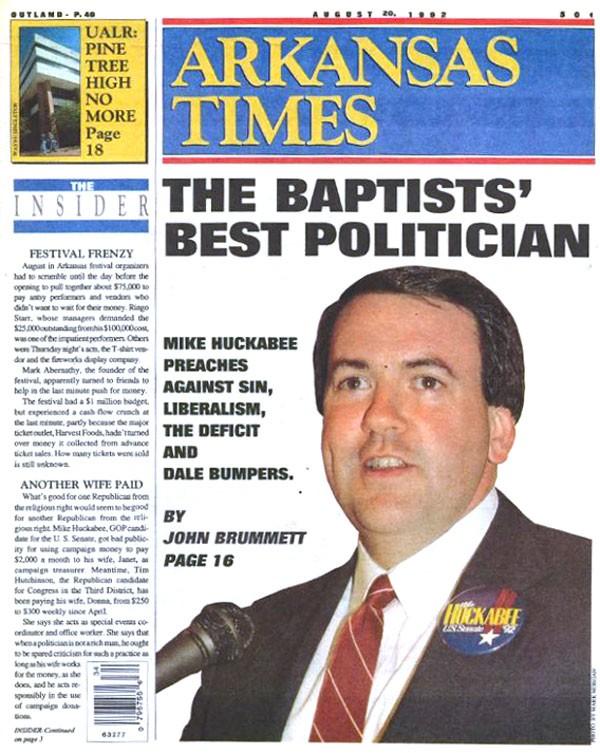 The Baptists' Best Politician: Preacher Huckabee