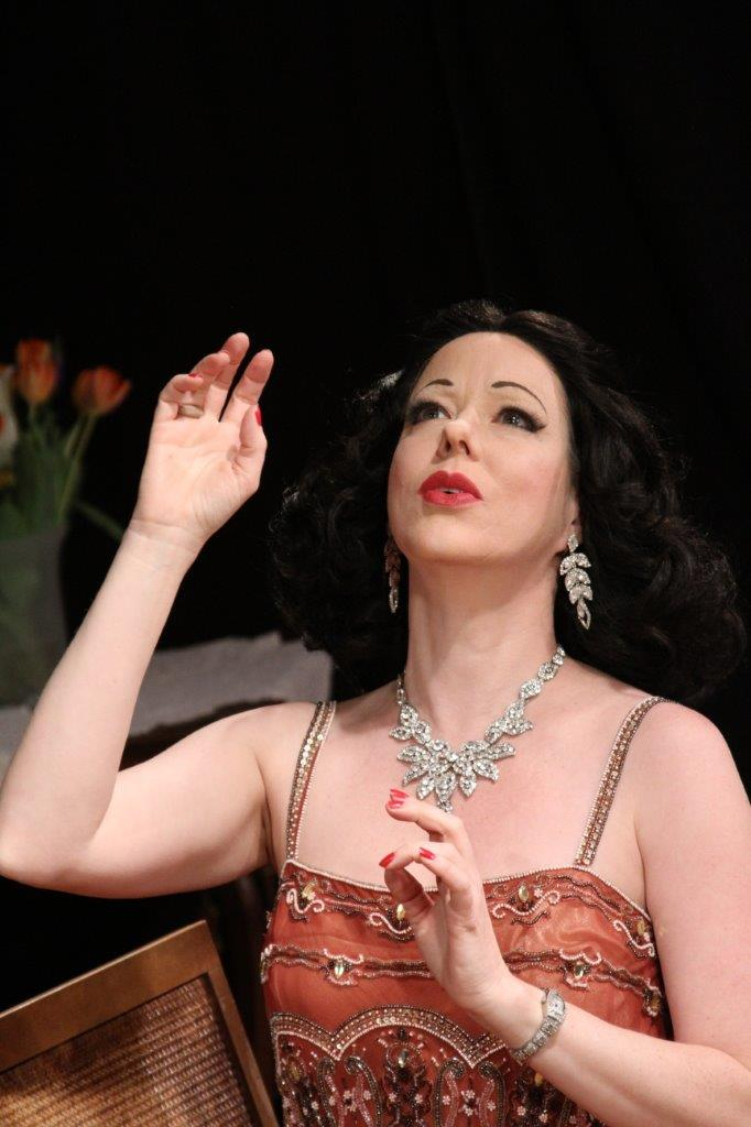 Heather Massie playing Hedy Lamarr in her one-woman show