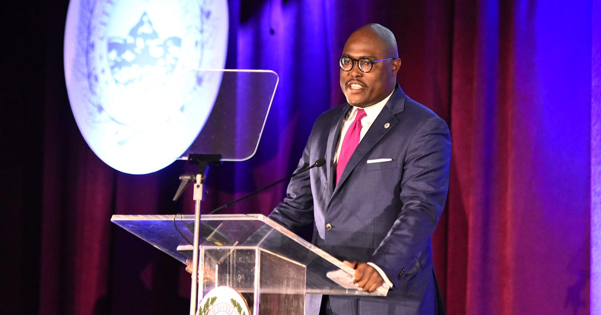 Little Rock Mayor Frank Scott Jr. delivers his state of the city speech, Thursday, March 28, 2019.