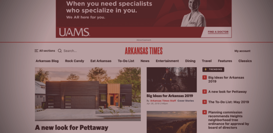 New Arkansas Times website screenshot