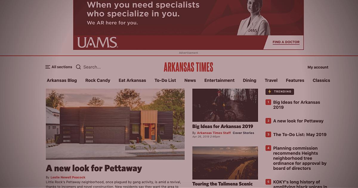 New Arkansas Times website screenshot
