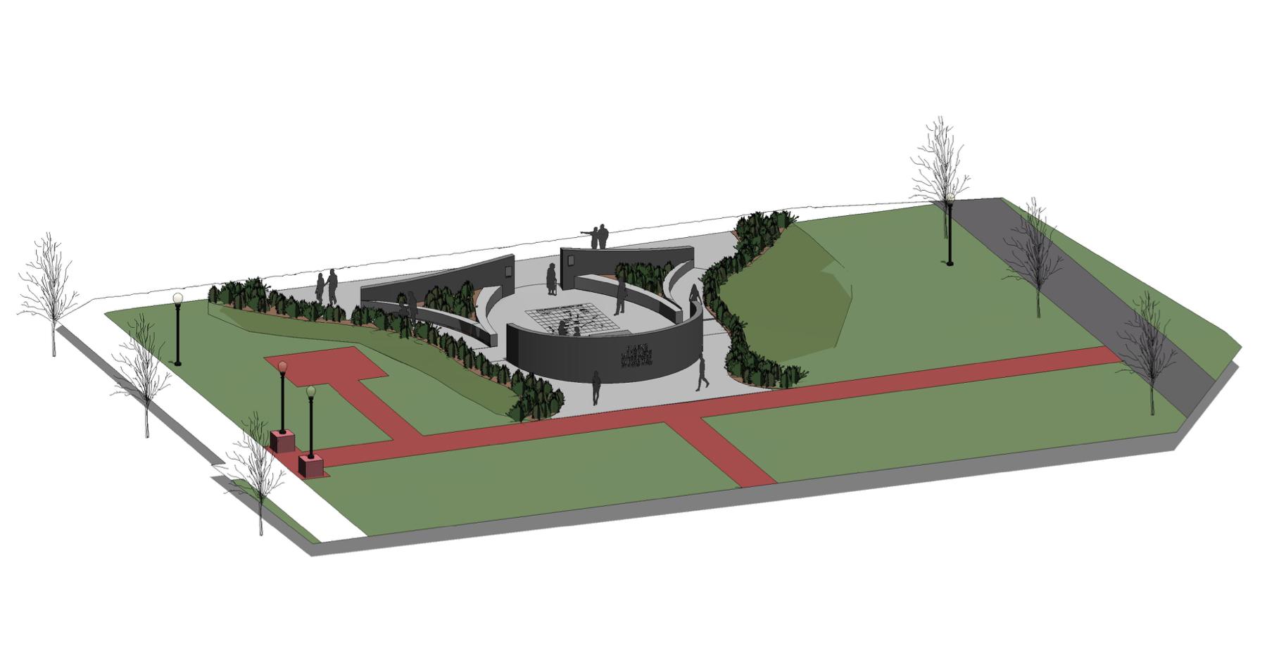 Elaine Massacre Memorial diagram