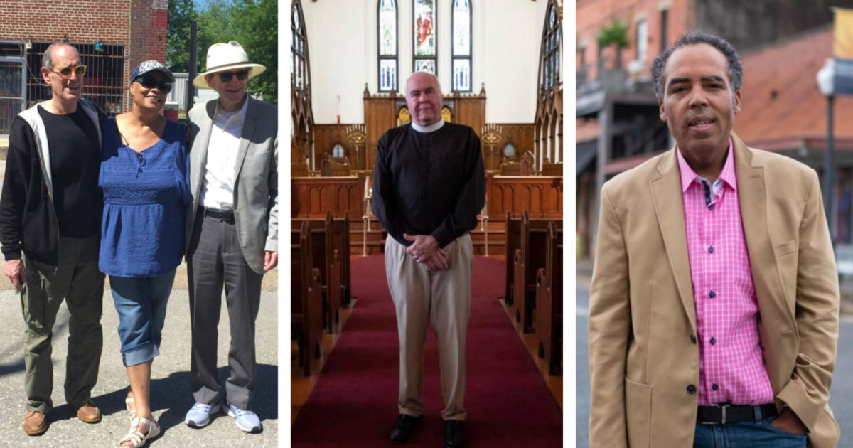 Photo of David P. Solomon Jr., Sheila Walker, Chester Johnson, Rev. Ray Brown and Kyle Miller.